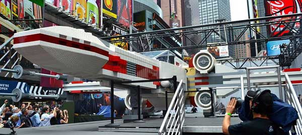 LEGO X-Wing Starfighter in Times Square, NYC