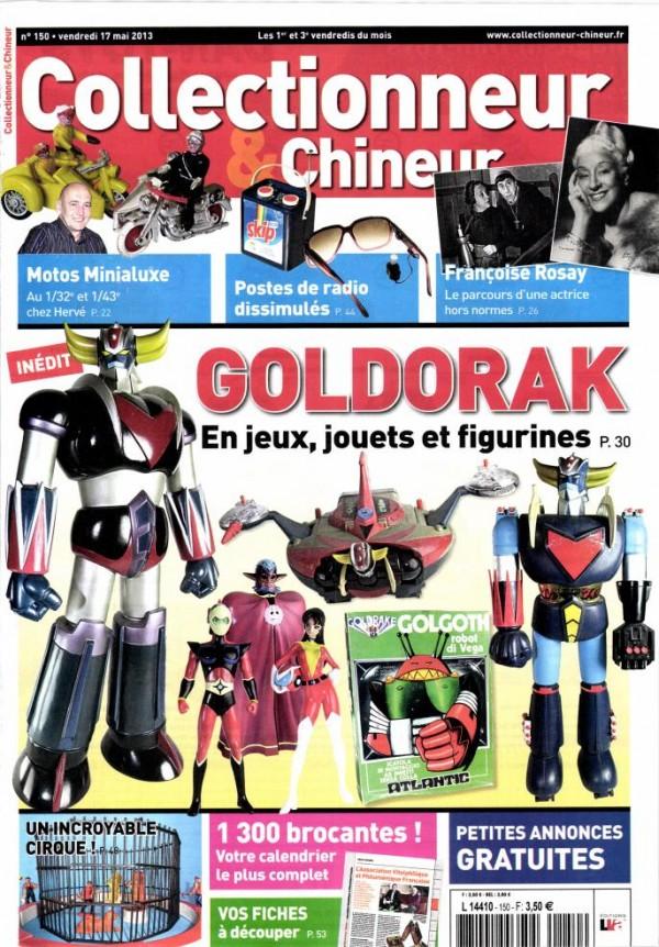 GOLDORAK Collectionneur&Chineur n° 150 daté du 17 mai 2013