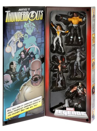 Hasbro 2013 SDCC Marvel Legends Thunderbolts figurines