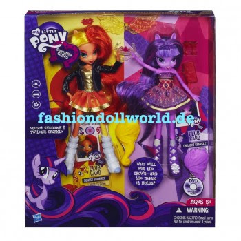 My Little Pony les poupées Equestria Twilight Sparkle et Sunset Shimmer