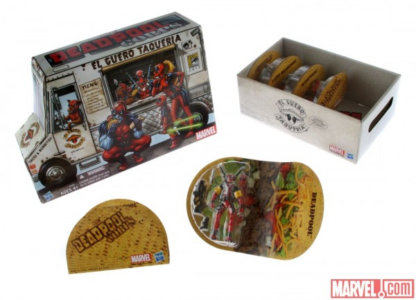 sdcc 2013 Marvel universe Hasbro deadpool taco