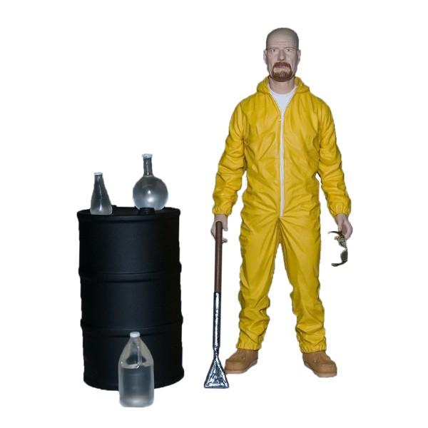 Deluxe Breaking Bad Walter White In Hazmat Suit  Mezco SDCC 2013