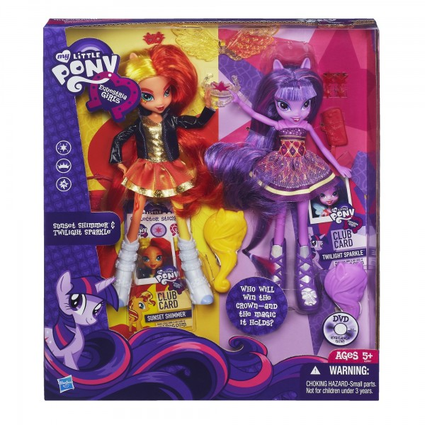 Twilight Sparkle Sunset Shimmer Equestria Girls dolls
