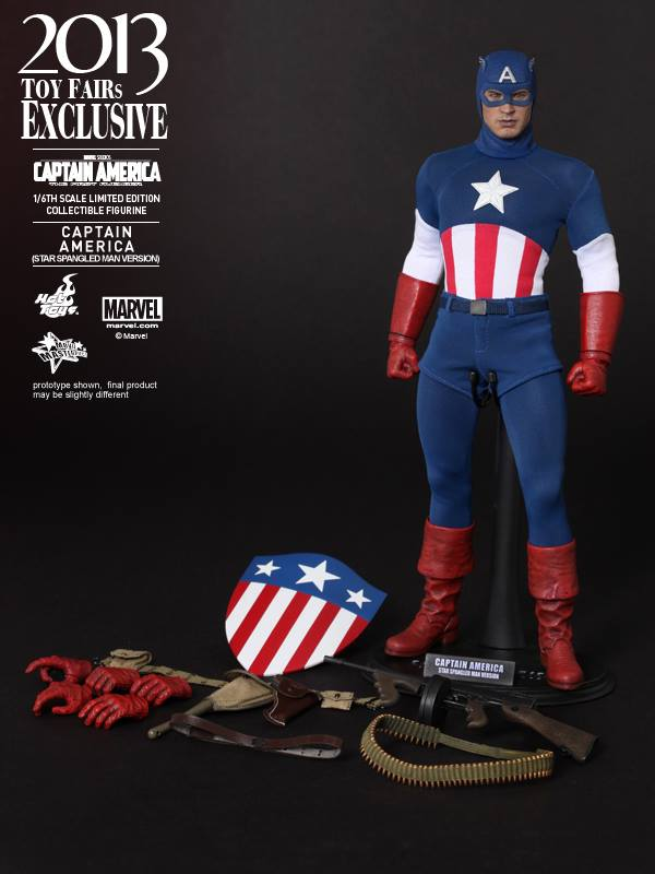 captain america marvel first avenger ww2 show exclu hot toys 2013 14