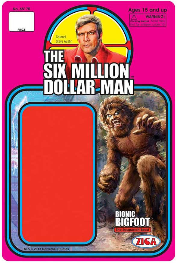 illustrations des cartes de Six Million Dollar Man