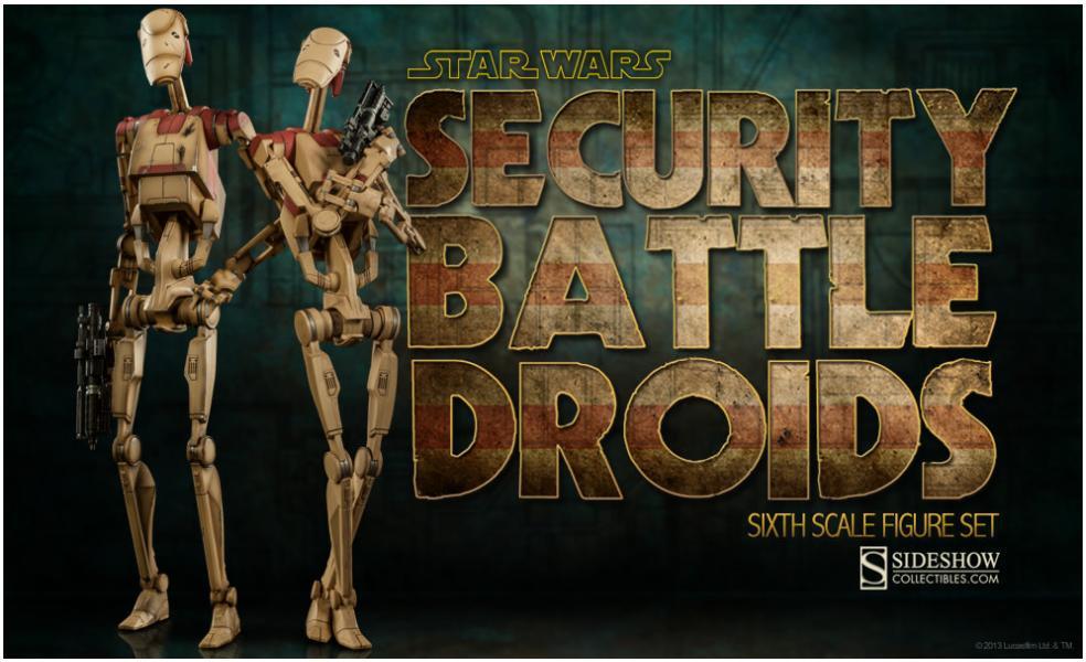 sideshow battle droids star wars toyzmag