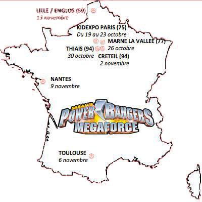 Les Power Rangers MegaForce, pour la première fois en tournée dans 7 villes de France