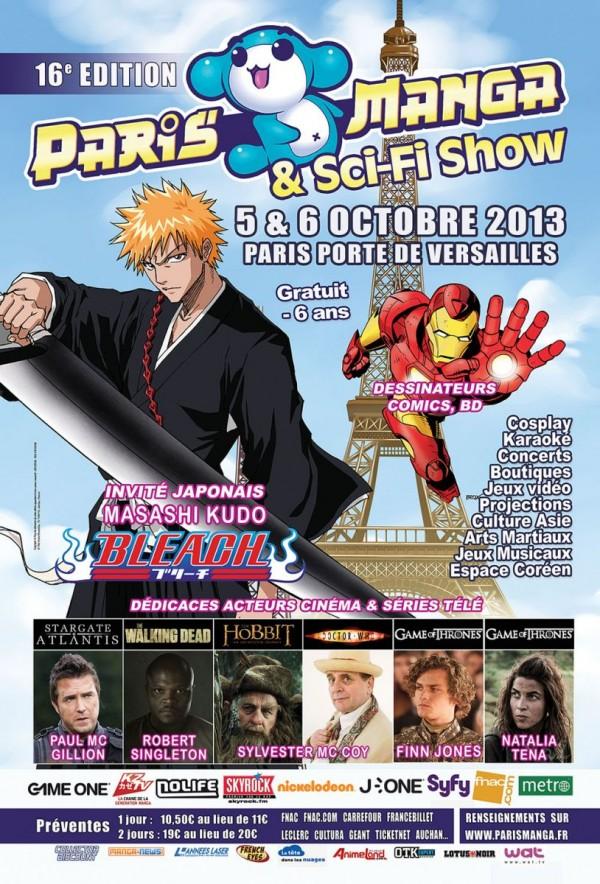 Paris Manga & Sci-Fi Show 5 et 6 octobre 2013 à Porte de Versailles