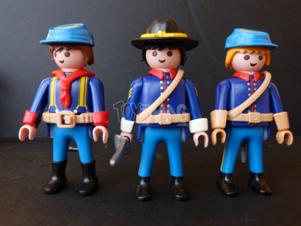 playmobil western canon soldats US cavalerie 14