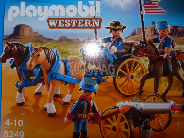 playmobil western canon soldats US cavalerie 2