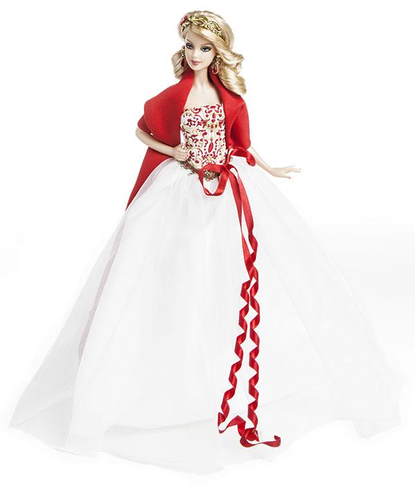 barbie noel 2010 ToyzMag.» 25ans de Barbie Collector Joyeux Noël – rétrospective barbie noel 2010