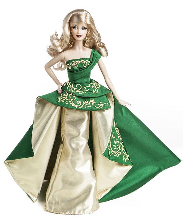 barbie noel 2012 ToyzMag.» 25ans de Barbie Collector Joyeux Noël – rétrospective barbie noel 2012