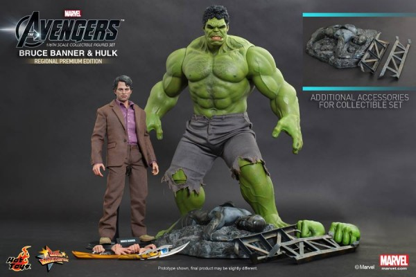 hulk banner avengers hot toys set 1