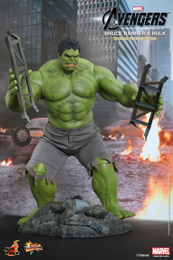 hulk banner avengers hot toys set 2