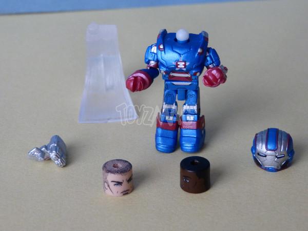 marvel minimates iron patriot capamerica thor 17