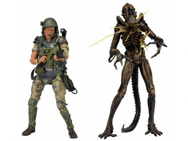 neca hudson alien battle damage