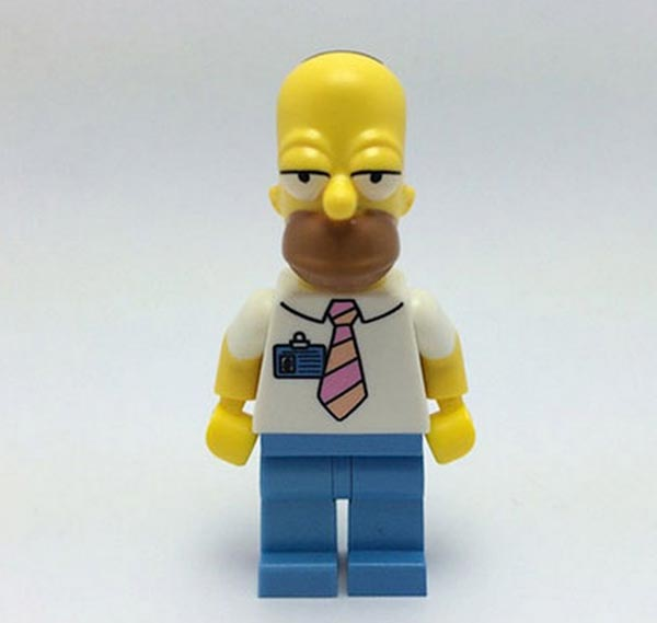 homer lego simpsons