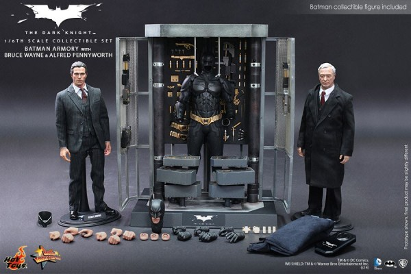 hot toys dark knight armory alfred bruce 1