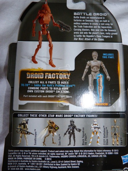 TLC BAD battle droid geonosis star wars 2