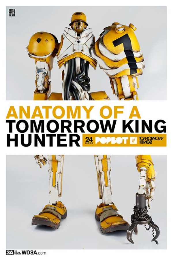 threeA tomorrow king hunter popbot robot