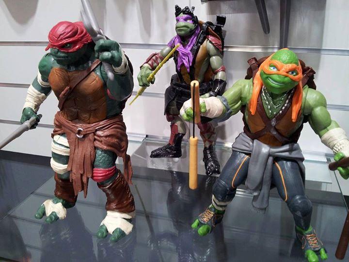 Lot de 4 figurines tortue ninja (du film de 2014) à Le Pavé de Pontault