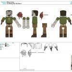 Walking Dead Minimates : Control art pour la série 5