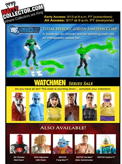 matty collector dcu total heroes green lantern