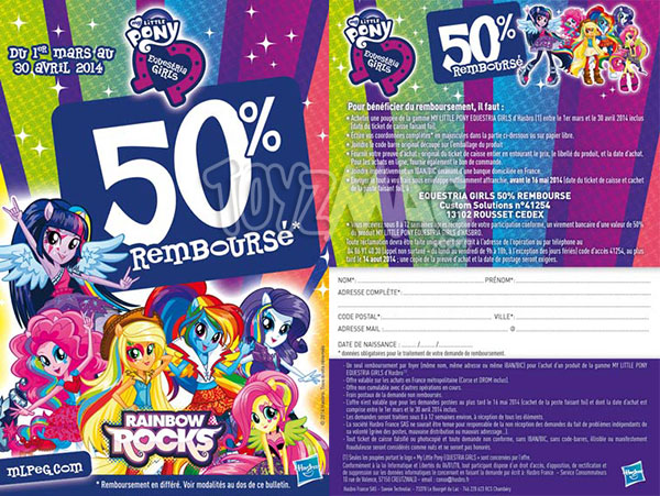 Promotion My little pony Equestria girls Rainbow Rock 50% reduction