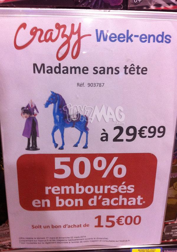 Promo Monster High Madame sans tête 15€