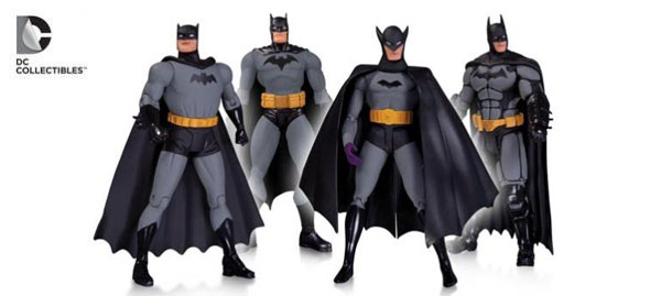 Batman 75th Anniversary Action Figure 4-Pack: Hush by Jim Lee, Batman Arkham Origins, New Frontier Darwyn Cooke and First Appearance by Bob Kane (Available October 2014)