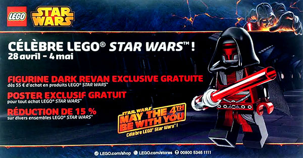 May the 4th May The Force Be With You - Star Wars LEGO celebration Darth REVAN