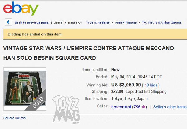 ebay meccano han bespin