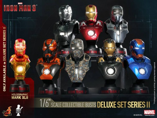 hot toys bustes iron man 3 série 2