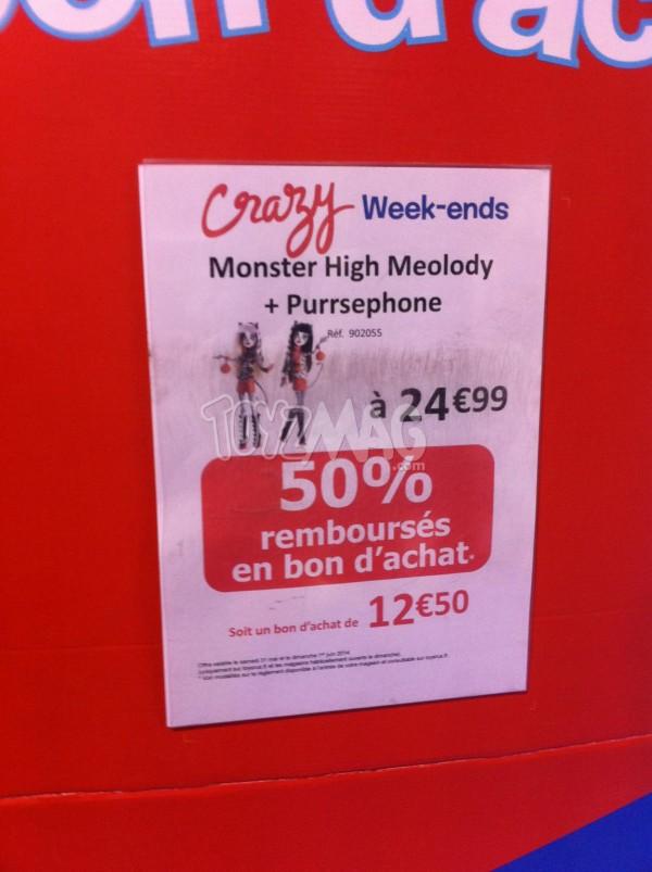 promo monster high -50%