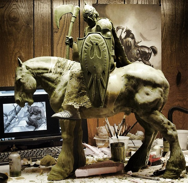 death dealer frazetta arh studios wip
