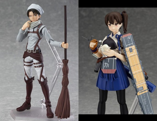 Summer WonFes 2014 Figma Exclusives: Levi (Cleaning Ver.) & Kaga