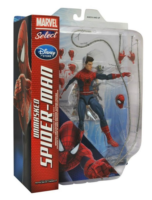 marvel select dst spidey unmasked exclu