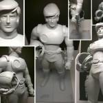 Capitaine Flam la statuette finalisée