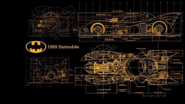 Plan de la Batmobile 1989