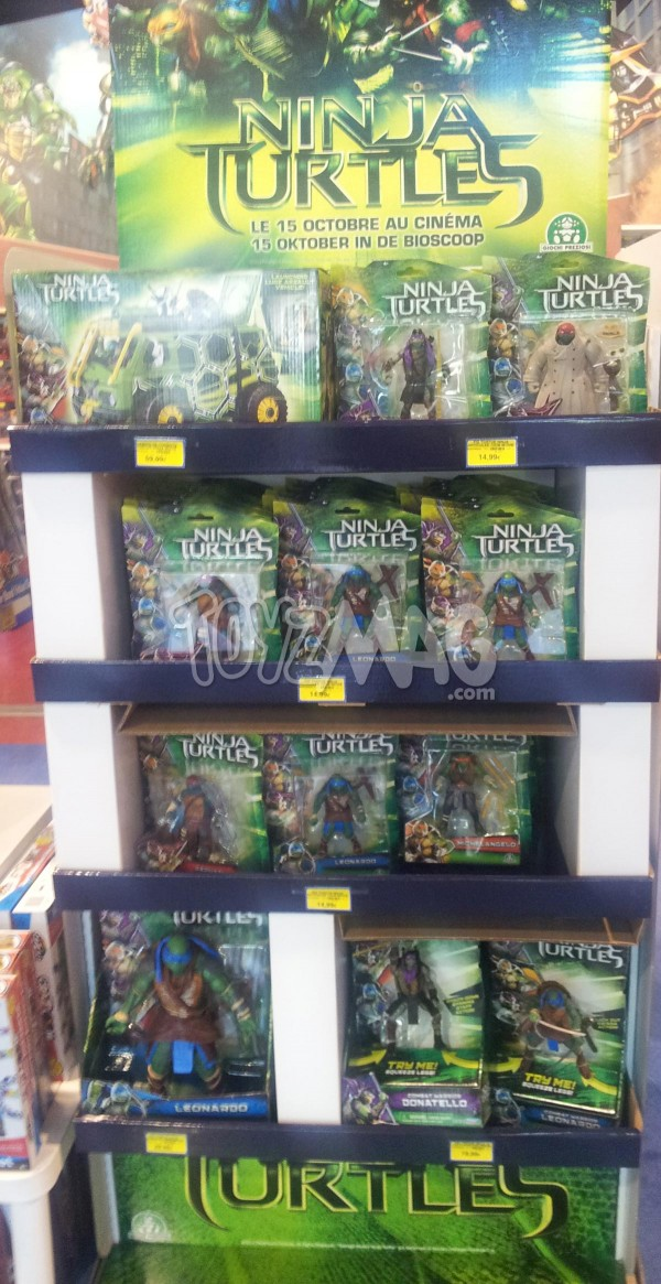 dispo en france figurines Ninja Turtles film