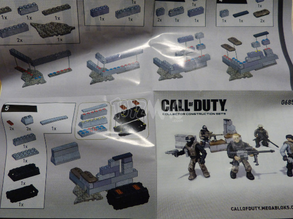 mega bloks call of duty sniper team 4