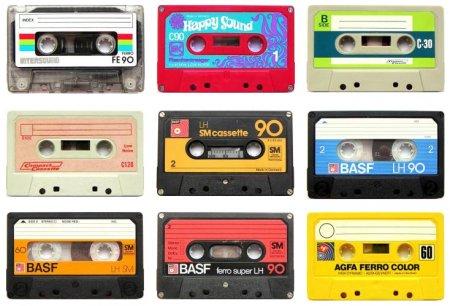 Cassettes audio des années 80