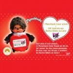 1 jour 1 jouet avec Auchan.fr : Monchhichi et Auchan.fr soutiennent les Restos du Coeur