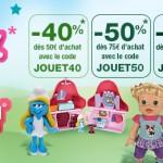 1 jour 1 jouet avec Auchan.fr : Code Promo jusqu'à 60% de reduction