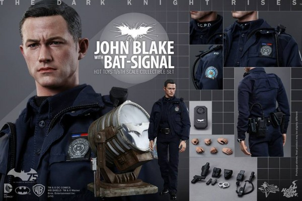 hot toys john blake batman bat signal