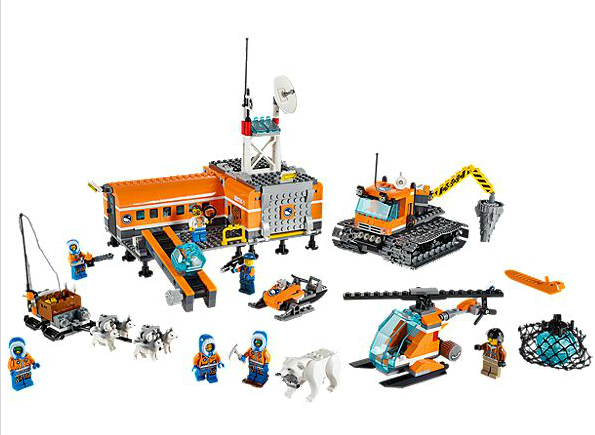 lego city arctic camp de base loose