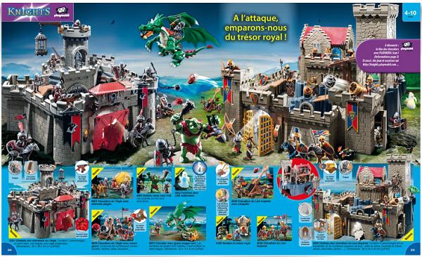 catalogue playmobil 2015 chevaliers