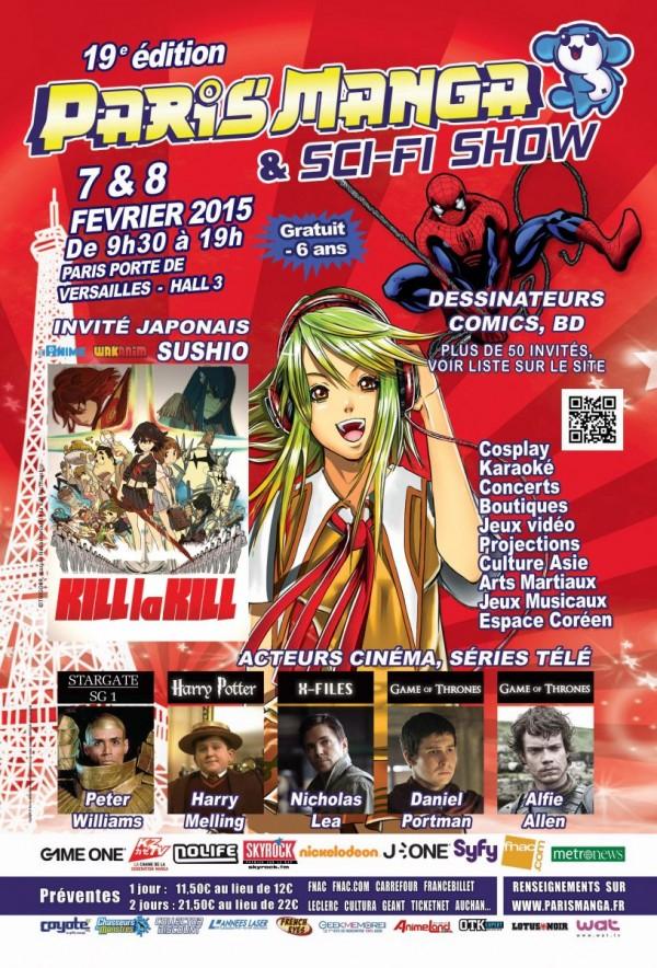 Paris Manga Sci fi show 19eme édition février 2015