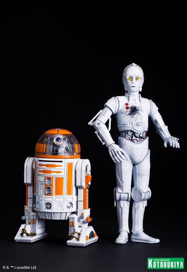 Star Wars R3-A2 & K-3PO ARTFX+ Statues 2015 Celebration Exclusive