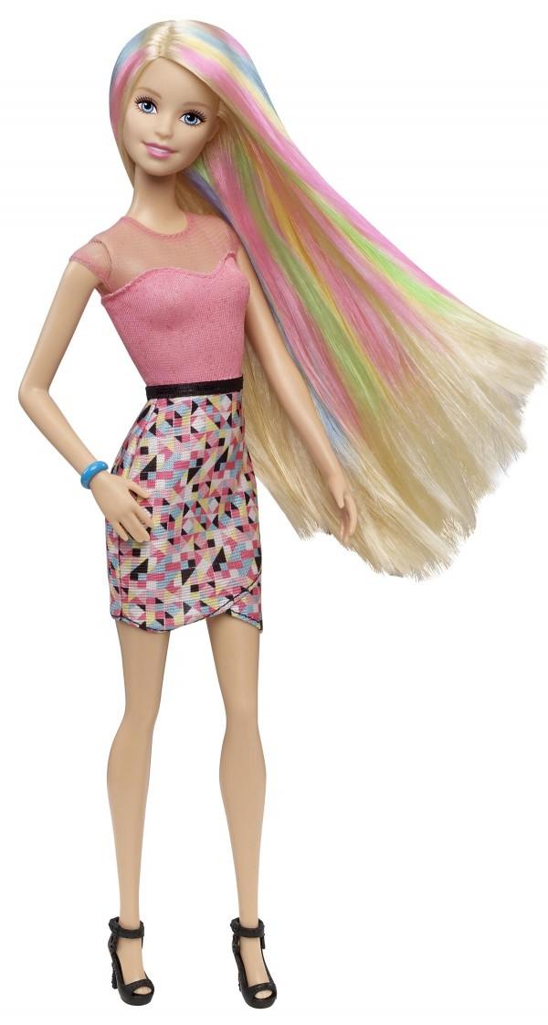 Barbie Chevelure Arc-en Ciel